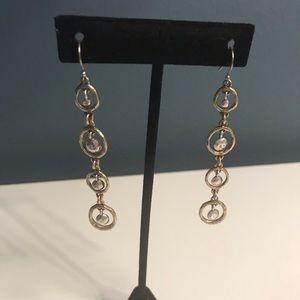 Lucky Brand two tone earrings
